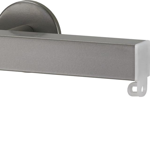 Shop Houzz Art Decor Nexgen Non Telescoping Aluminum Traverse Rod In Antique Silver Curtain Rods