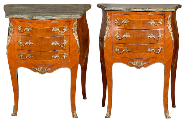 Consigned Pair Of Louis XV Style Side Tables Traditional Side Tables And