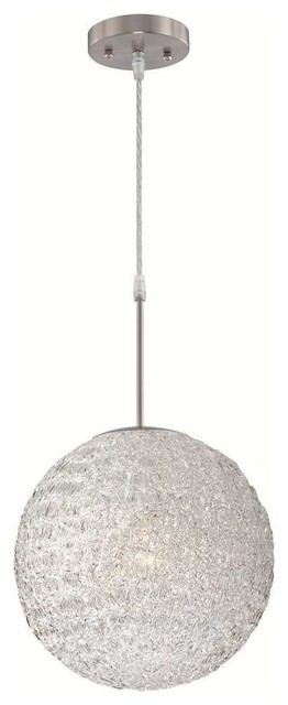 Lite Source Ls-19598 Icy 1 Light Pendant Lamp.