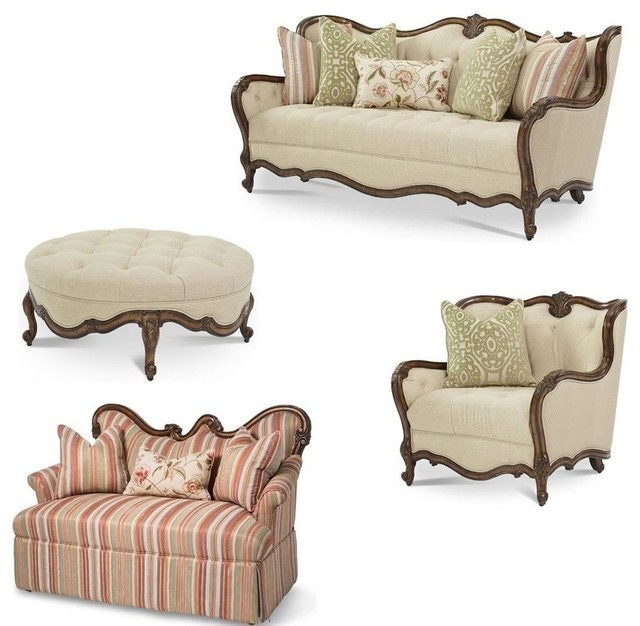 Lavelle melange living room set 4 piece set traditional for 4 piece living room set