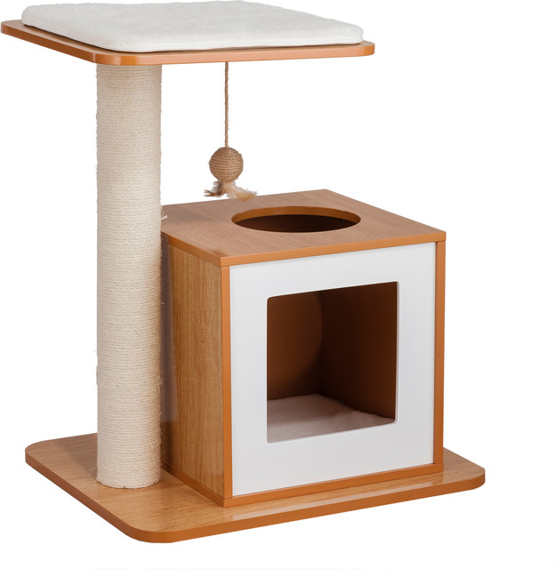 e3931a45ce31 Cat Scratch Post House, - Contemporary - Cat Furniture - by Elegant Home  Fashions