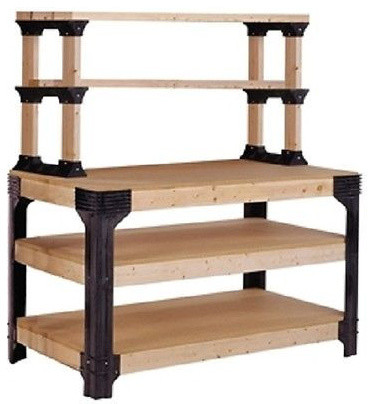 Unbranded Workbench Shelving Unit Potting Bench Storage System - Garage And Tool Storage | Houzz