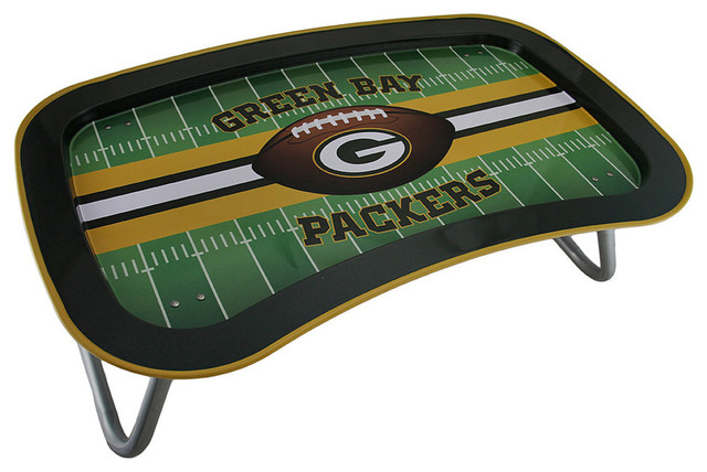Nfl Green Bay Packers Multi Function Metal Lap Tray With Folding Legs 22