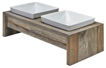 Double Elevated Dog Bowl Feeder