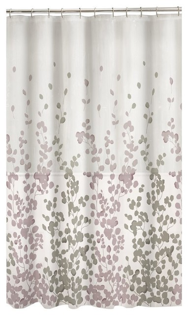 Maytex Sylvia Fabric Shower Curtain Lavender Gray Contemporary