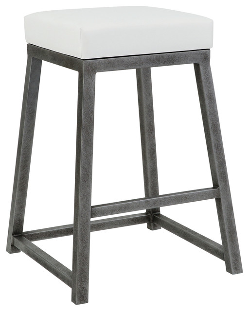Marvelous Haley Counter Height Backless Barstool Aspen Pure White Silver Bisque 26 Squirreltailoven Fun Painted Chair Ideas Images Squirreltailovenorg