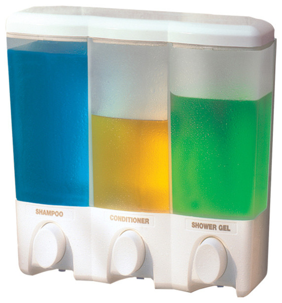 Better Living Clear Choice Three Chamber Dispenser In White   72350