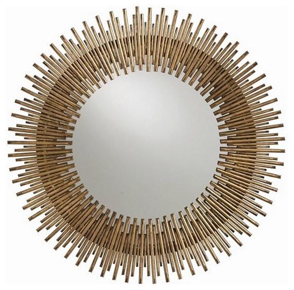 Arteriors Home Prescott Round Antiqued Gold Leaf Iron Mirror - 2134.