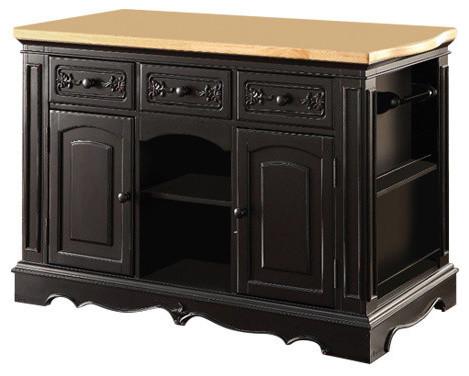 Wooden Kitchen Cabinet, Black, Granite Cutting Board.