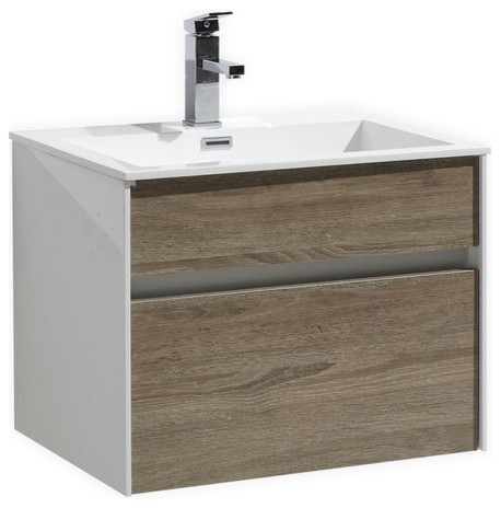 tona fitto wall-mount modern bathroom vanity - contemporary