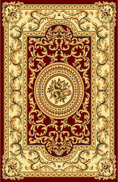 R403 Burgundy Area Rug Victorian Area Rugs By Rug Tycoon