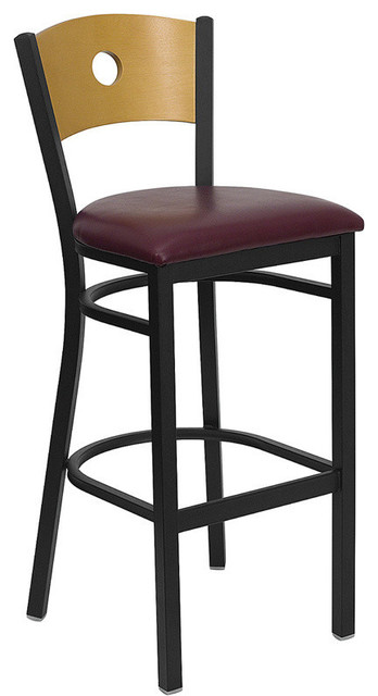 Hercules Series Black Circle Back Metal Restaurant Bar Stool Stools And Counter By Bisonoffice