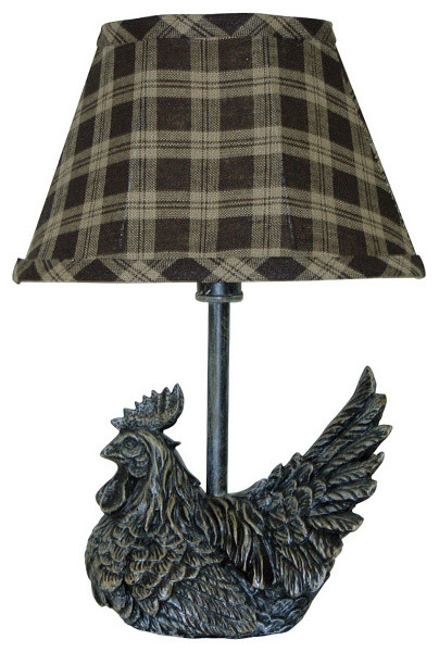 Ahs Lighting Mini Rooster Plaid Shade.
