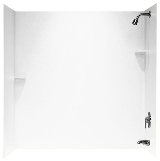 Swan 30x60x60 Solid Surface Bathtub Wall Kit - Contemporary - Shower ...