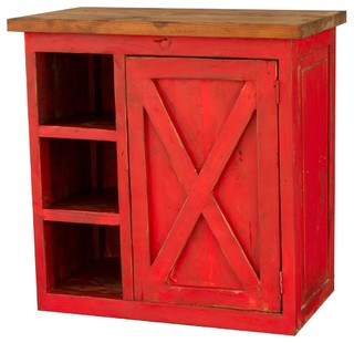 Barn Door Vanity Bright Red 36 Quot Farmhouse Bathroom