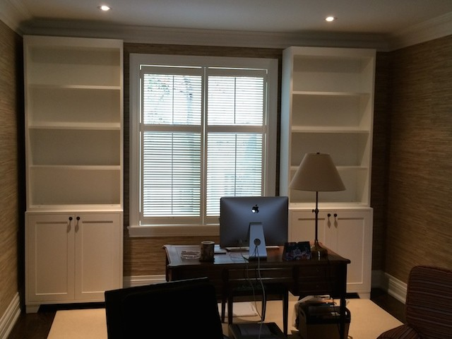 Office Free Standing Custom Wall Units - Contemporary - Calgary - by ...