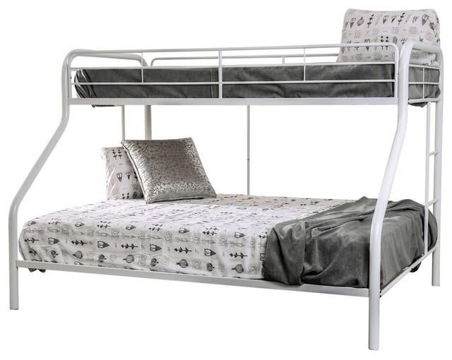 comet extra long twin over queen metal bunk bed