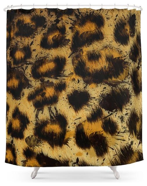 society6 cheetah shower curtain contemporary shower