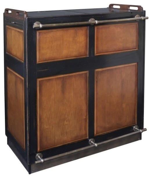 Casablanca Portable Bar in Black Finish - Traditional - Wine And Bar Cabinets - by ShopLadder