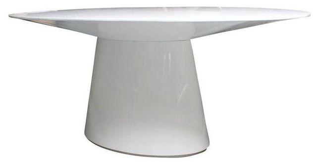 Modern White Pedestal Table   $2,500 Est. Retail   $1,250 On Chairish.com  Contemporary