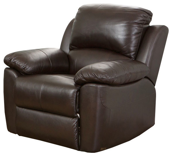 Abbyson Living Toscana Leather Recliner, Brown by Abbyson Living