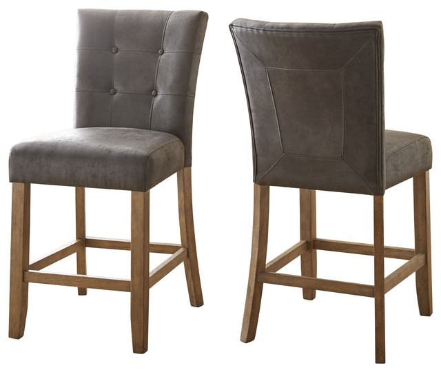 Debby Chairs, Gray, Set of 2, Grey, Counter Height