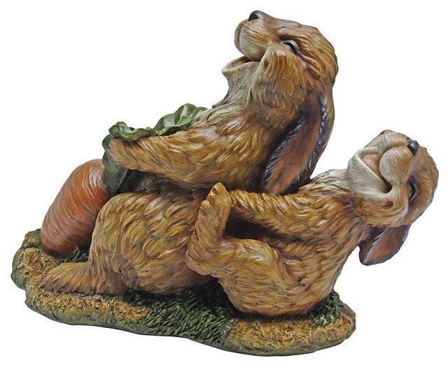 Funny Rabbit Statue Sculpture Traditional Decorative  : traditional decorative objects and figurines from www.houzz.com size 640 x 522 jpeg 78kB