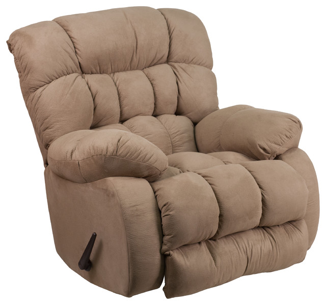Contemporary Softsuede Microfiber Rocker Recliner by Flash Furniture