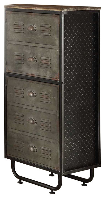 Sands - Michael Anthony Locker Collection 2 Door Bookcase - View in Your Room! | Houzz