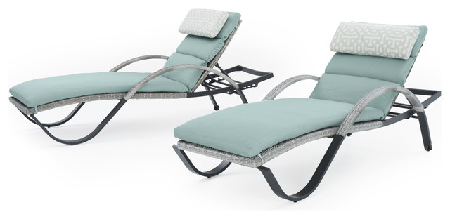 Cannes Chaise Outdoor Lounge Chairs Set Of 2 By Rst Brands Tropical Outdoor Chaise Lounges By Rst Outdoor