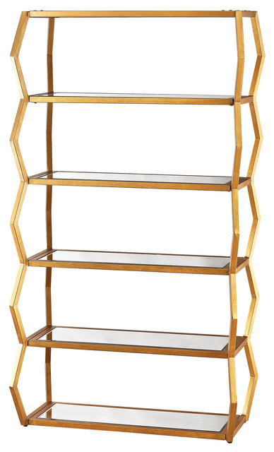 Dimond Home Anjelica Metal Bookshelf � Gold
