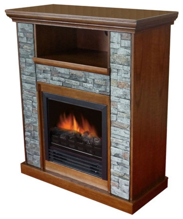 classic electric fireplace space heater with resin stone traditional space heaters by. Black Bedroom Furniture Sets. Home Design Ideas