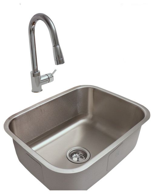 Rcs Outdoor Kitchen Stainless Steel Under Mount Sink And Faucet Contemporary Kitchen Sinks By Rcs Gas Grills