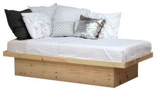Twin Size Platform Bed, Unfinished