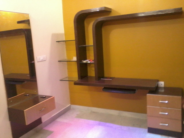 TV UNIT CUM STUDY TABLE Modern Hyderabad by ARCHICONS