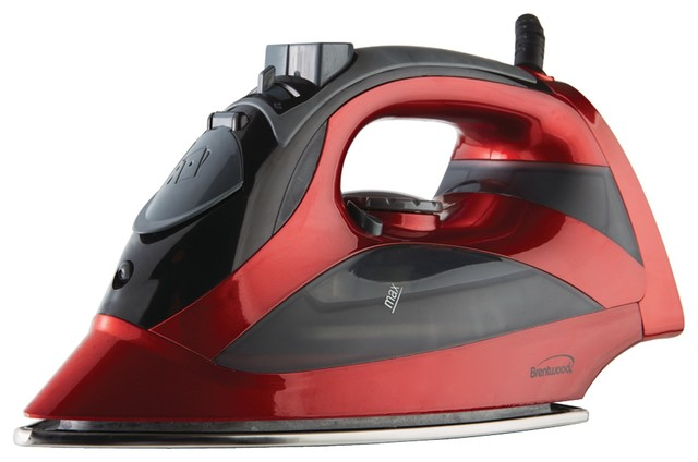 Brentwood Mpi-90r Steam Iron With Auto Shutoff, Red.