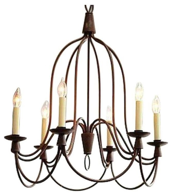 William sonoma 6 light french country chandelier French country chandelier