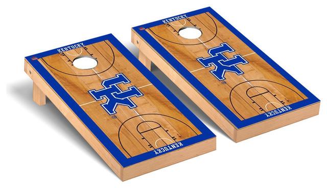 Kentucky Basketball Court Cornhole Bag Toss Wrap Set