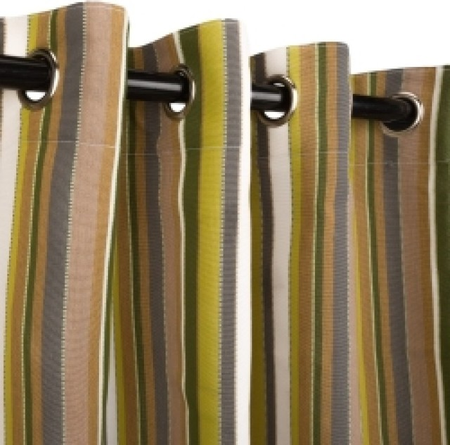 Sunbrella Snow Grommets Outdoor Curtains Contemporary Curtains By Hammock Shoppe