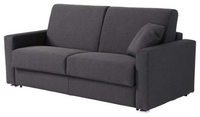 Pezzan Breeze Queen Pull Out Sofa Bed, Dark Gray Sleeper Sofas