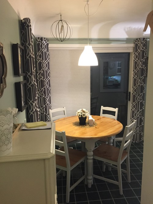 Best Tiny Awkward Dining Area With Dining Table Against Wall. Part 45