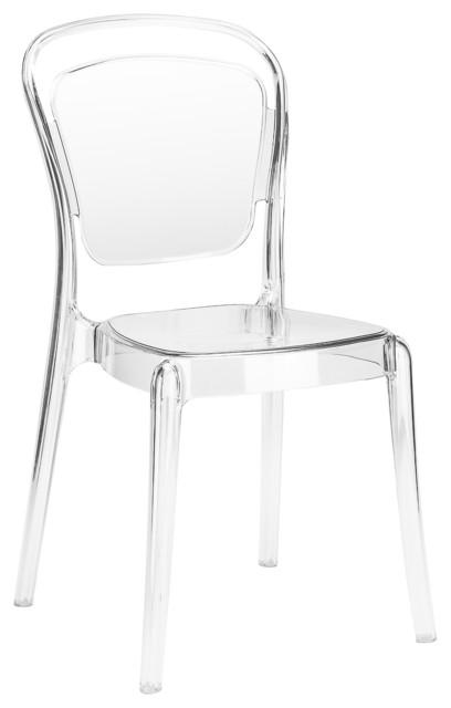 Casper Side Chair, Clear.