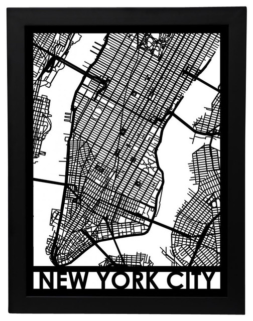 Cut Maps New York City Street Map Prints And Posters – Street Map Nyc