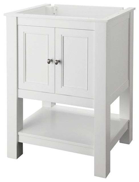 foremost gazette vanity cabinet only in white
