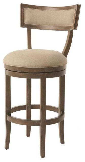 Wooden Swivel Barstool Transitional Bar Stools And