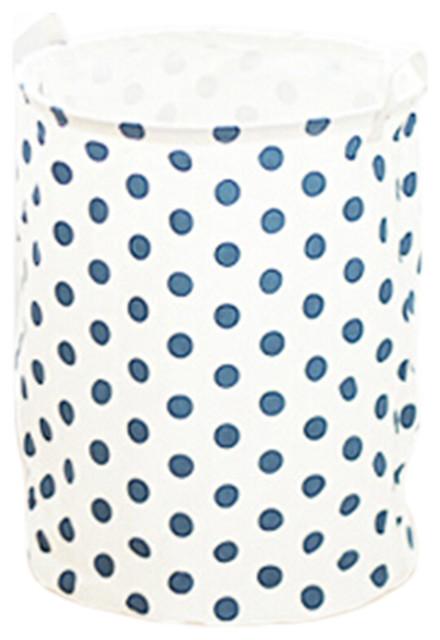 Folding Laundry Basket, Storage Bag, Laundry Hamper, Basket White, Blue.