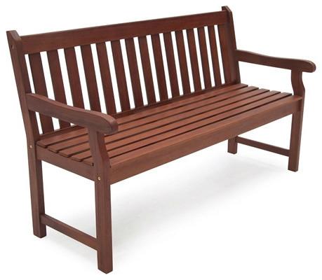 4u0027 Outdoor Love Seat Garden Bench In Natural Wood Finish