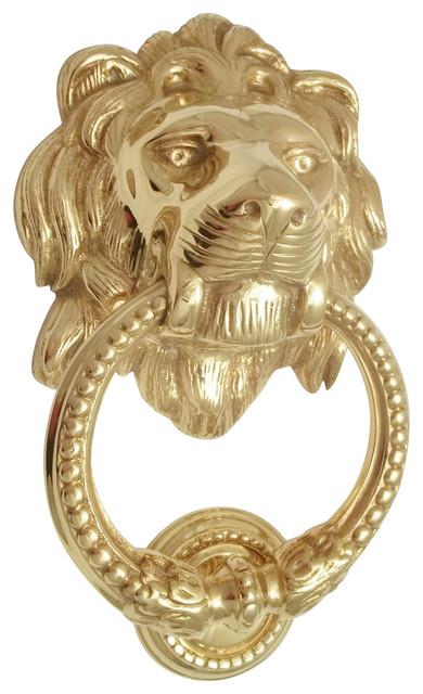 Lion head door knocker brass traditional door for 10 downing street lion authentic foundry door knocker