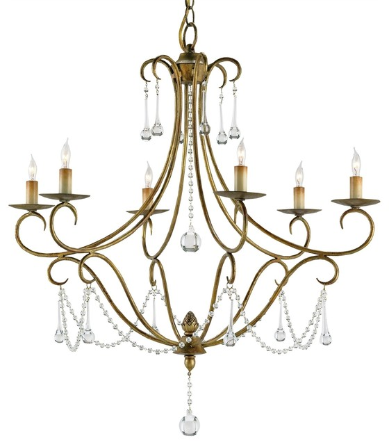 Currey Company Agostina Chandelier Traditional Chandeliers