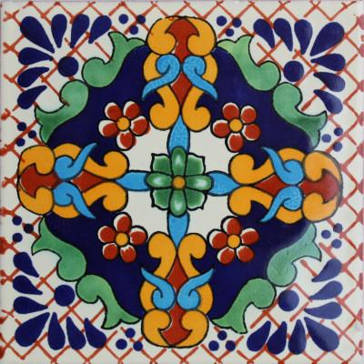 6x6 4 Pcs Macotera Talavera Mexican Tile.
